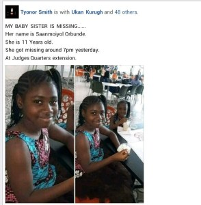 HAVE YOU SEEN HER? 11-Year-Old Girl Declared Missing In Benue State (Photos) 1