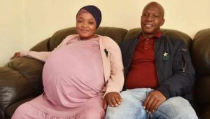 South African Woman Breaks Record As She Gives Birth To 10 Babies At Once (See Photos)