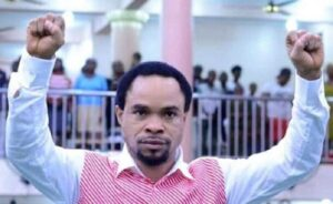 Controversial Prophet Odumeje Caught On Camera Having Spiritual Sex With A Female Church Member (Watch)