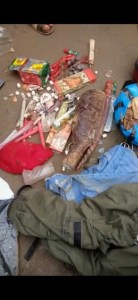 PHOTOS! Young Yahoo Boy Runs Mad In Aba, Fetish Items Found In His Car 1