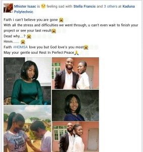 How A Final Year Kaduna Polytechnic Student Died After Signing Out (Pictures) 2