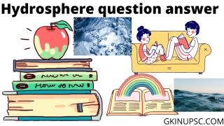 Hydrosphere question answer