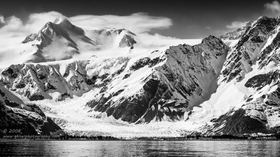 """""""Layered Slopes"""", Canon 40D, 70-200mm f/4L, No filters, Converted to B&W in Lightroom"""