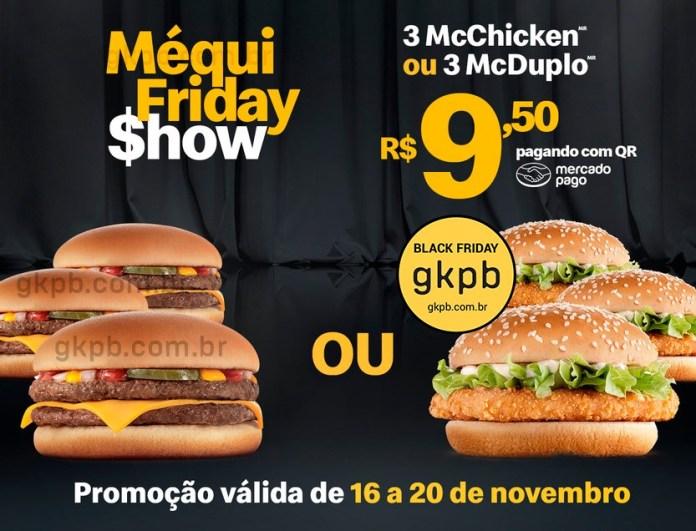 Ofertas disponíveis na Pré-Black Friday do McDonald's