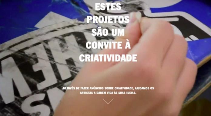 Capa do site da Vans para divulgar os artistas.