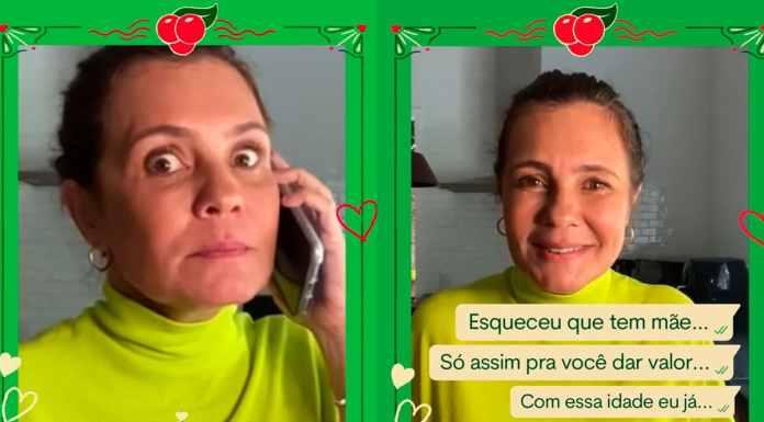 Adriana Esteves para a campanha de Dia das Mães de Guaraná Antarctica.