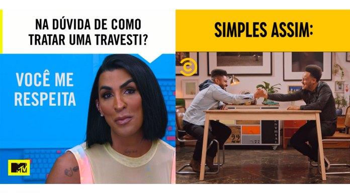Campanhas da MTV e do Comedy Central contra preconceitos.