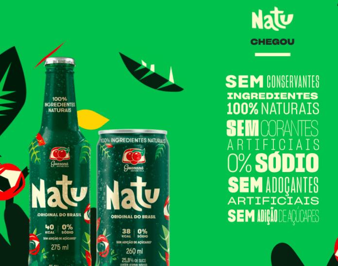 Guaraná Natu lata e garrafa