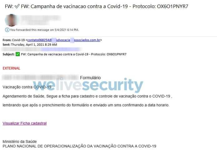 ESET identifica email que rouba dados bancários