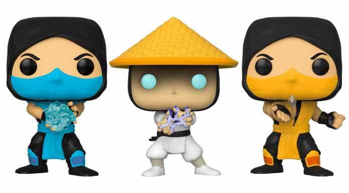 Funko Pop que a Warner Bros está lançando de Mortal Kombat.