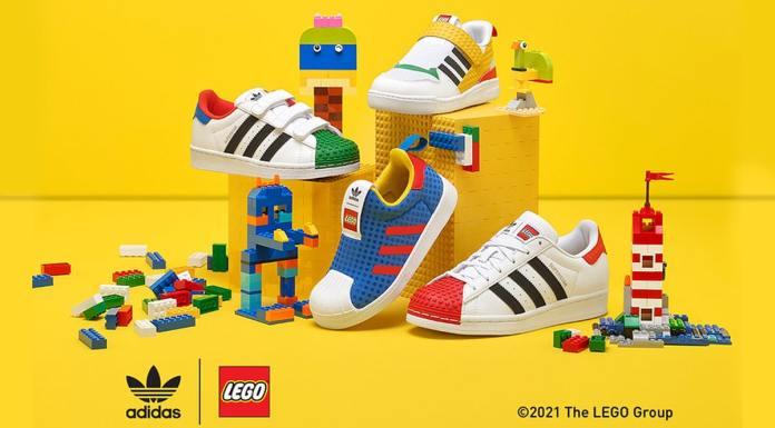 Adidas e Lego tênis personalizável.