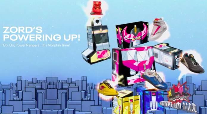 Coleção Reebok com Power Rangers