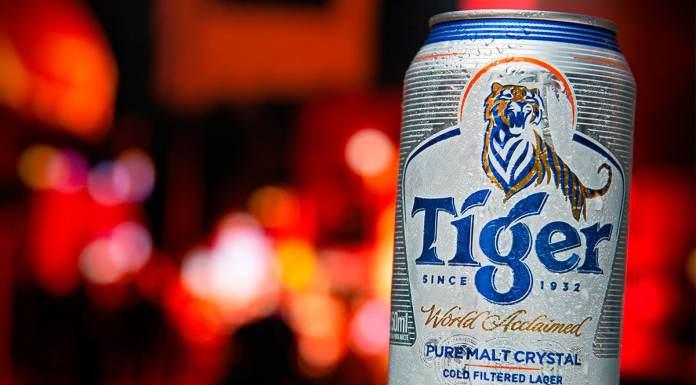 Cerveja Tiger do Grupo Heineken.