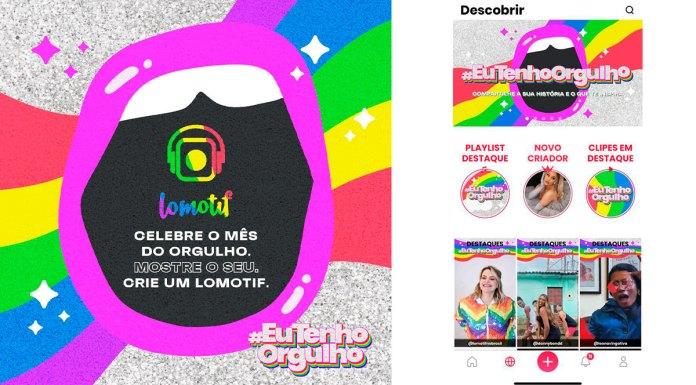 Lomotif para o Mês do Orgulho LGBTQIA+.