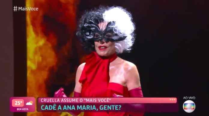 Ana Maria Braga se veste de Cruella no Mais Você