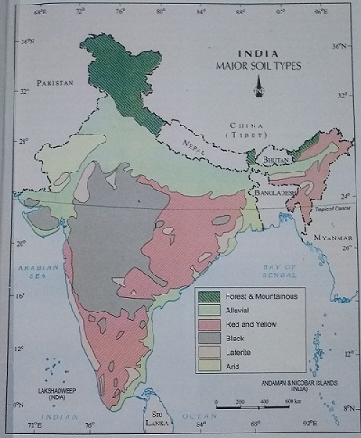 types of soils - Classification of Soils in India