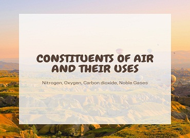 Constituents Of Air And Their Uses - Constituents Of Air And Their Uses
