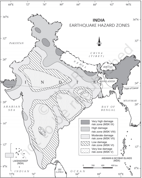india earthquake hazard zones - Disaster Management