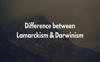 Difference between Lamarckism and Darwinism