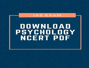 psychology ncert pdf - Download NCERT Psychology Books For IAS Exam