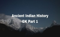 Ancient Indian History GK Part 1
