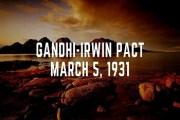 Gandhi-Irwin Pact or Delhi Pact