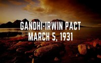 Gandhi-Irwin Pact March 5 1931