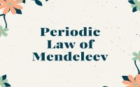 Periodic Law of Mendeleev