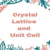 What is Crystal Lattice and Unit Cell?