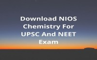 Download NIOS Chemistry For UPSC And NEET Exam