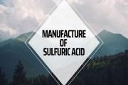 Manufacture of Sulfuric Acid