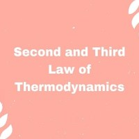 Second and Third Law of Thermodynamics
