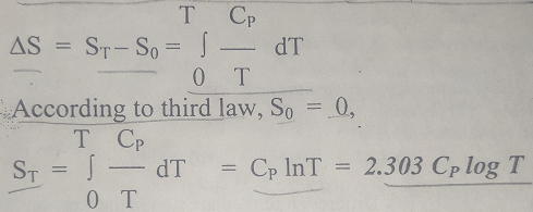 third law of thermodynamics equation - Second and Third Law of Thermodynamics