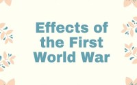 Effects of the First World War