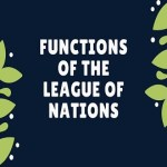 Functions of the League of Nations