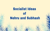 Socialist Ideas of Nehru and Subhash