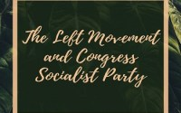 The Left Movement and Congress Socialist Party
