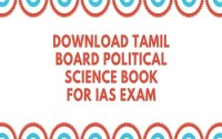 Download Tamil Board Political Science Book For IAS Exam
