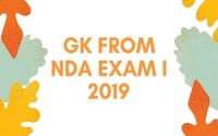GK From NDA Exam I 2019
