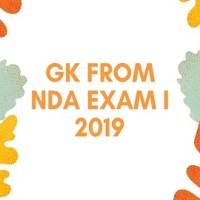 GK From NDA Exam I 2019