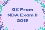 GK From NDA Exam II 2019