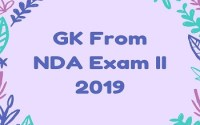 GK From NDA Exam II 2019
