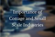 Importance of Cottage and Small Scale Industries