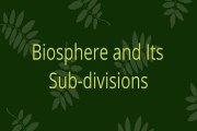 Biosphere and Its Sub-divisions