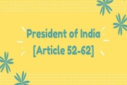 President of India [Article 52-62]- GK