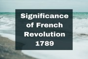 Significance of French Revolution 1789