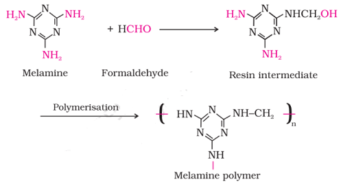 melamine polymer reaction - Preparation and Uses of Some Important Polymers