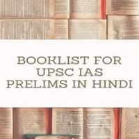 Must-Read General Studies Booklist for UPSC IAS Prelims in Hindi