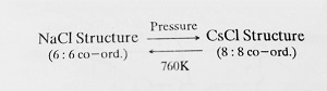 Effect of Temperature and Pressure on Crystal Structure - Structures of Simple Ionic Compounds