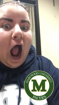 When Marywood got our own Snap filter (now we have 3!)